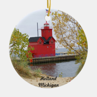 Big Red, Holland Michigan Round Ceramic Decoration