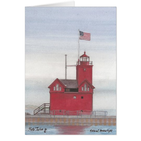 Big Red Lighthouse, Holland, Michigan Card