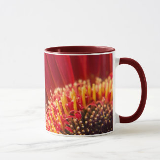 Big Red Macro Gerbera Daisy Flower Mug