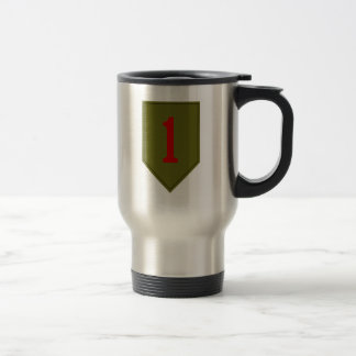 Big Red One, 1st ID Patch Stainless Steel Travel Mug