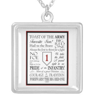 Big Red One Song Microscopic Necklace