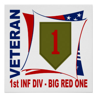 Big Red One Vet Poster