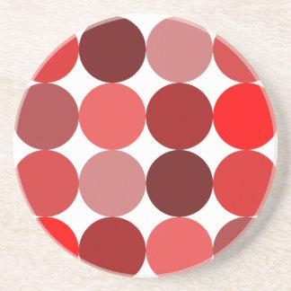 Big Red Polka Dots Coaster