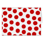 Big Red Polka Dots on Customisable Background