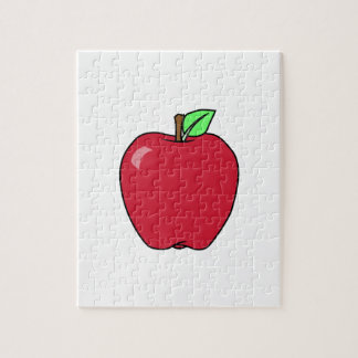 Big Red Ripe Apple Jigsaw Puzzle