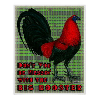 Big Red Rooster Poster