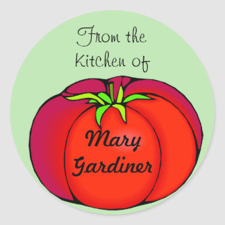 Big Red Tomato Canning Labels