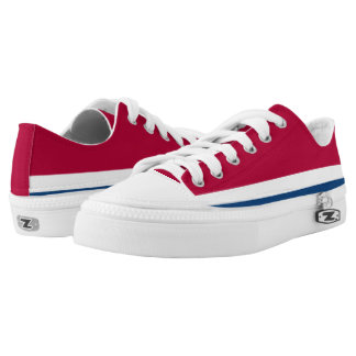 Big Red White and Blue Lo-Top Printed Shoes