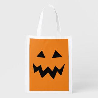 Big reusable Halloween pumpkin shopping bags