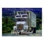 Big Rig Road-liner Truck-lover Birthday Card