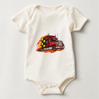 Big Rig Truck Baby Bodysuit