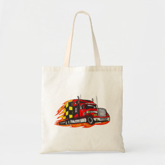 Big Rig Truck Tote Bag