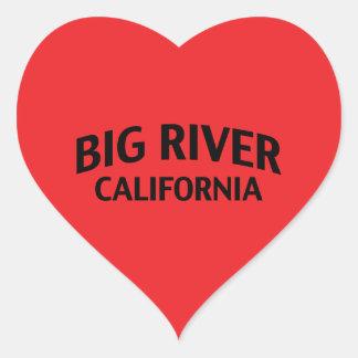 Big River California Heart Sticker