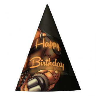 Big Robot Birthday Party Hat