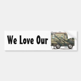 Big RV Camper Bumper Sticker