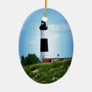 Big Sable Point Lighthouse Christmas Ornament