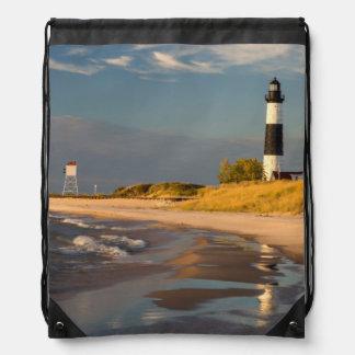 Big Sable Point Lighthouse On Lake Michigan 2 Backpacks