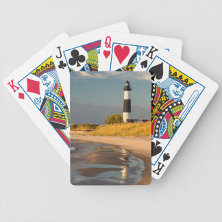 Big Sable Point Lighthouse On Lake Michigan 2 Bicycle Playing Cards