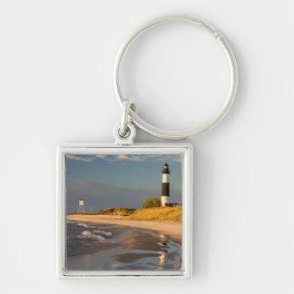 Big Sable Point Lighthouse On Lake Michigan 2 Keychains