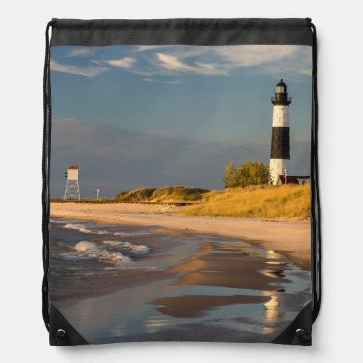 Big Sable Point Lighthouse On Lake Michigan 2 Backpack
