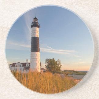 Big Sable Point Lighthouse On Lake Michigan 3 Coaster