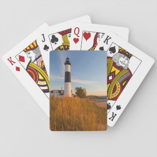 Big Sable Point Lighthouse On Lake Michigan 3 Playing Cards