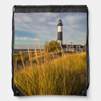 Big Sable Point Lighthouse On Lake Michigan Drawstring Backpacks