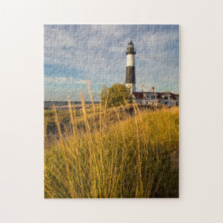 Big Sable Point Lighthouse On Lake Michigan Jigsaw Puzzle