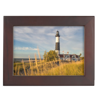 Big Sable Point Lighthouse On Lake Michigan Memory Boxes