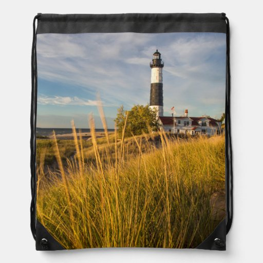 Big Sable Point Lighthouse On Lake Michigan Backpack