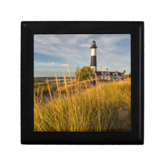 Big Sable Point Lighthouse On Lake Michigan Small Square Gift Box