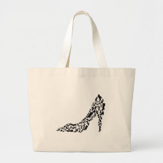 big shoe with different shoe silhouettes large tote bag