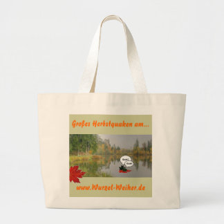 Big shop by for pond frogs in the autumn tote bag