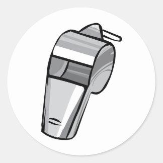 Big Silver Whistle Round Sticker