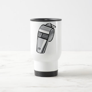 Big Silver Whistle Stainless Steel Travel Mug
