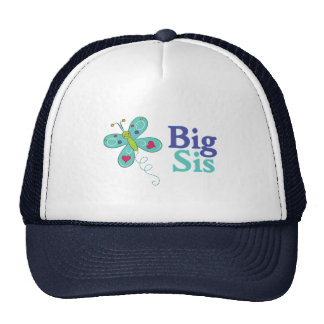 Big Sis Cute Butterfly 1 Mesh Hats