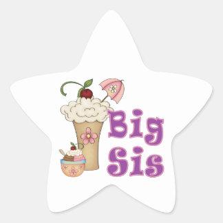 Big Sis Ice Cream Star Sticker