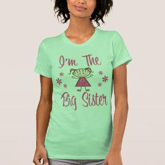 Big Sis Pink Girl T-shirt