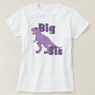Big Sis Purple Dinosaur Tee Shirt