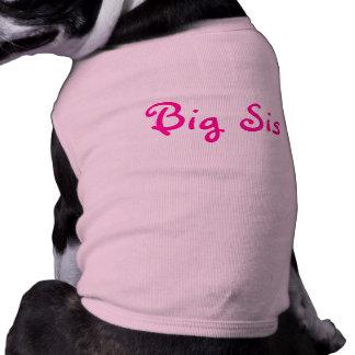 Big Sis Sleeveless Dog Shirt