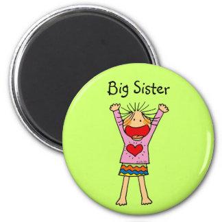 Big Sister 6 Cm Round Magnet