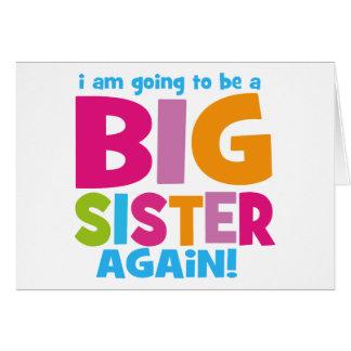 Big Sister Again Greeting Card