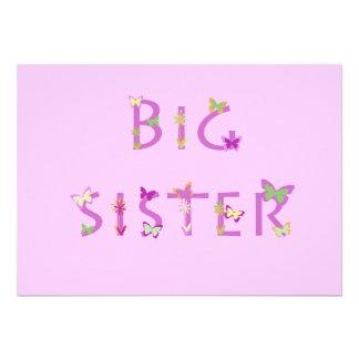 Big Sister Announcement butterflies flowers