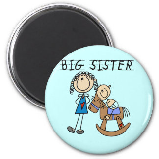 Big Sister Baby Brother T-shirts and Gifts Refrigerator Magnets