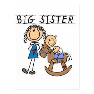 Big Sister Baby Brother T-shirts and Gifts Post Cards