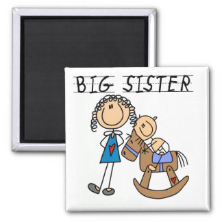 Big Sister Baby Brother T-shirts and Gifts Square Magnet