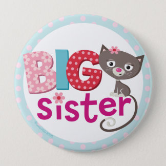 Big sister Badge/Button 10 Cm Round Badge