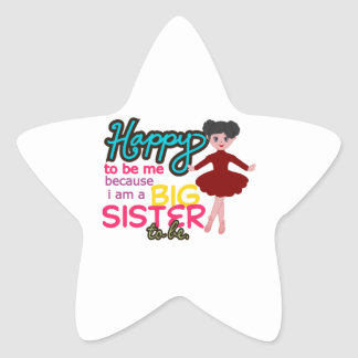 Big Sister Ballerina Star Sticker