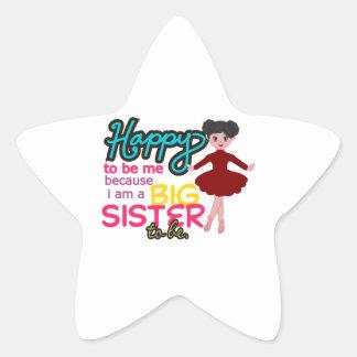 Big Sister Ballerina Star Sticker