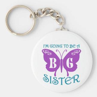 Big Sister Basic Round Button Key Ring